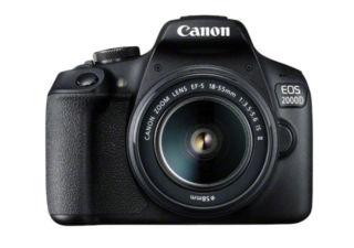 CANON 2000D + EF-S 18-55 IS II reflex numérique