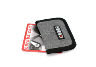 CARUBA étui tissu pour cartes mémoires 4 x CF ou SD