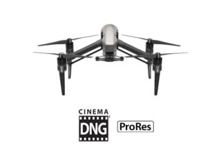 DJI drone Inspire 2 Licenses CinemaDNG et Apple ProRes incluses