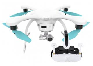EHANG Ghostdrone 2.0 blanc + lunettes VR pilotage (IOS Apple)