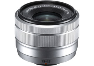 FUJIFILM XC 15-45 mm F/3.5-5.6 silver objectif photo