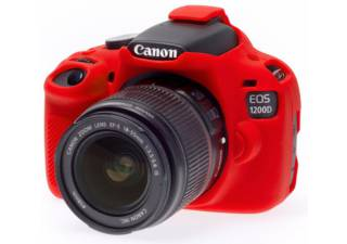 EASY COVER housse de protection rouge pour CANON 1200D