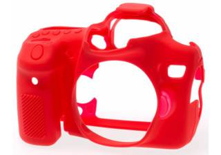 EASY COVER housse de protection rouge pour CANON 70D