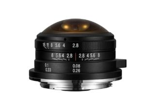 Laowa 4 mm f/2.8 Fisheye circulaire monture Canon EOS M objectif photo