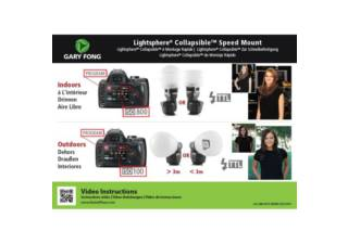 GARY FONG Portrait Kit Lightsphere Collapsible Speed Mount