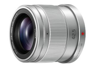 PANASONIC Lumix G 42.5 mm f/1.7 silver objectif photo