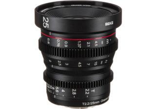 Meike 25mm T2.2 monture Sony E objectif vidéo