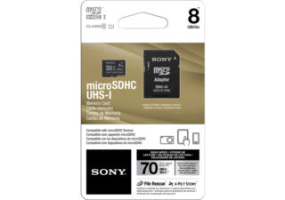 SONY SR8UYA carte micro SD 8Go UHS I 90 MB/s Class 10 + adaptateur SD