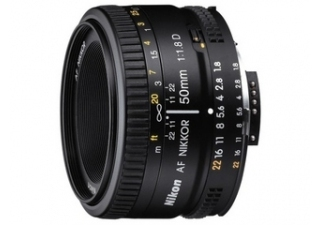 NIKON AF Nikkor 50 mm f/1.8D objectif photo