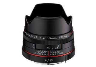 PENTAX HD DA 15 mm f/4 AL Limited noir objectif photo