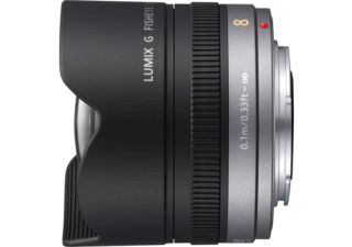 PANASONIC Lumix G 8 mm f/3.5 ASPH noir objectif photo fisheye