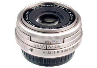 PENTAX 43mm f/1,9 Limited argent objectif photo