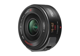 PANASONIC Lumix GX Vario PZ 14-42 mm f/3.5-5.6 ASPH Power OIS noir objectif photo pancake