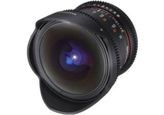 SAMYANG 12 mm T3.1 Fisheye VDSLR ED AS NCS monture CANON objectif vidéo