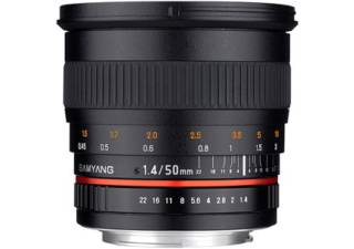 SAMYANG 50 mm f/1.4 AS UMC monture NIKON AE objectif photo