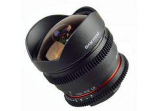 SAMYANG 8 mm T3.8 CS II monture CANON objectif vidéo Fisheye