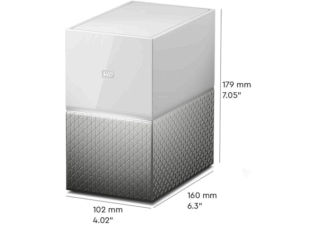 Western Digital My Cloud Home Duo solution de stockage et cloud personnel 16 To blanc