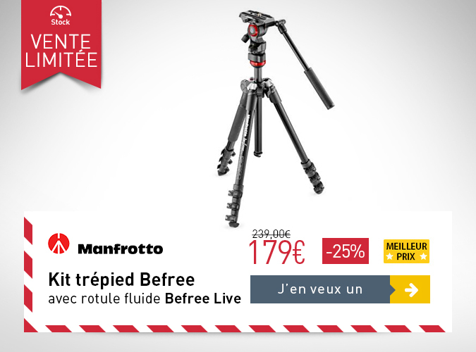 MANFROTTO Kit trépied Befree avec rotule fluide Befree Live